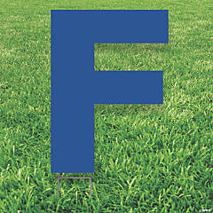 Blue Letter F Yard Sign