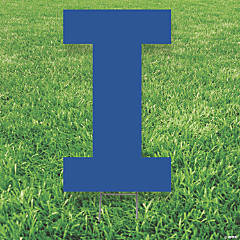 Blue Letter I Yard Sign