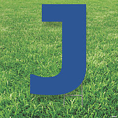 Blue Letter J Yard Sign
