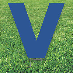Blue Letter V Yard Sign