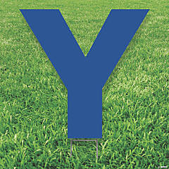 Blue Letter Y Yard Sign