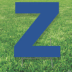 Blue Letter Z Yard Sign