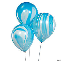 Blue Marble Latex Balloons