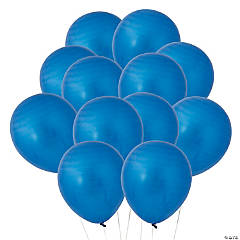 "Blue Metallic 11"" Latex Balloons"
