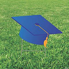 Blue Mortarboard Hat Yard Sign