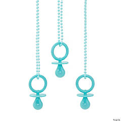 Blue Pacifier Necklaces