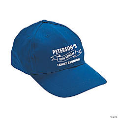 Blue Personalized Family Tree Baseball Caps