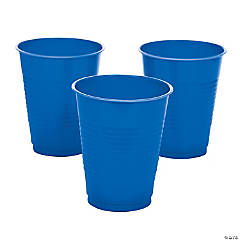 Blue Plastic Cups - 20 Ct.