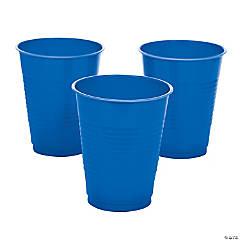 Blue Plastic Cups - 20 Pc.