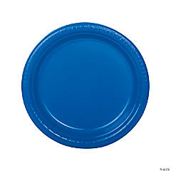 Blue Plastic Dinner Plates - 20 Ct.