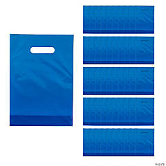 Blue Plastic Goody Bags