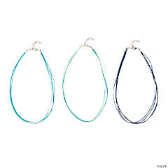 Blue Ribbon Necklaces