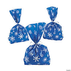 Blue Snowflake Cellophane Bags