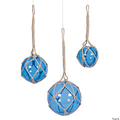 Blue Spheres with Rope