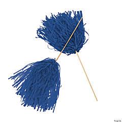 Blue Spirit Cheer Pom-Poms - 24 Pc.