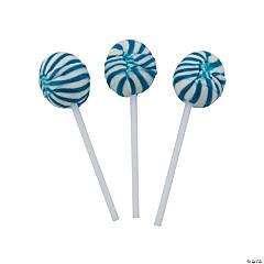Blue Swirl Ball Lollipops