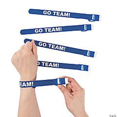 Blue Team Spirit Whistle Slap Bracelets