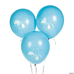 "Blue Umbrellaphants 12"" Latex Balloons"
