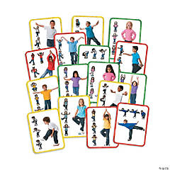 Body Stepping Stones Exercise Balance Kit for Children, 48 Pieces
