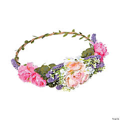Boho Floral Crown with Lavender Accents