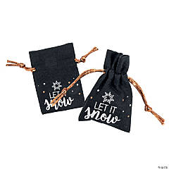 Bold Christmas Canvas Drawstring Treat Bags