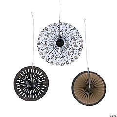 Bold Christmas Paper Hanging Fans