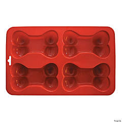 "Bone Silicone Cake Pan-9""X5.75"" 4 Cavity (3.75""X3.75"")"