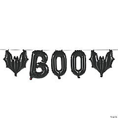 Boo Bat Mylar Balloon Garland