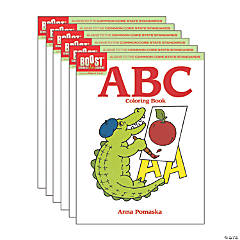 BOOST Educational Series ABC Coloring Book, Pack of 6