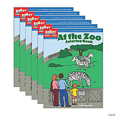 BOOST Educational Series At the Zoo Coloring Book, Pack of 6