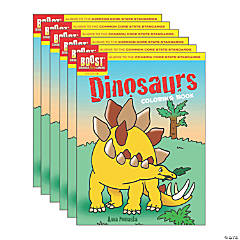 BOOST Educational Series Dinosaurs Coloring Book, Pack of 6