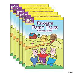 BOOST Educational Series Favorite Fairy Tales Coloring Book, Pack of 6