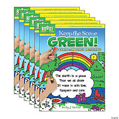 BOOST Educational Series Keep the Scene Green!: Earth-Friendly Activities, Pack of 6