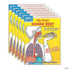 BOOST Educational Series My First Human Body Coloring Book, Pack of 6