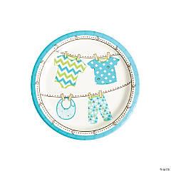 Boy Baby Clothes Paper Dessert Plates