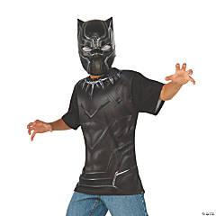 Boy's Captain America: Civil War™ Black Panther Costume Top & Mask - Large