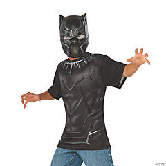 Boy's Captain America: Civil War™ Black Panther Costume Top & Mask - Small
