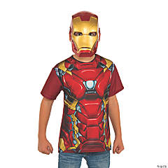 Boy's Captain America: Civil War™ Iron Man Costume Top & Mask - Medium