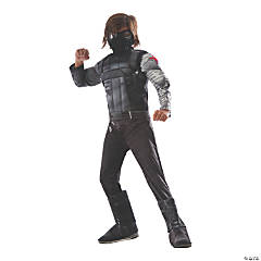 Boy's Deluxe Muscle Chest Captain America: Civil War™ Winter Soldier Costume - Large