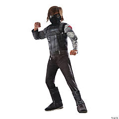 Boy's Deluxe Muscle Chest Captain America: Civil War™ Winter Soldier Costume - Medium