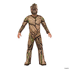 Boy's Deluxe Muscle Chest Groot Costume - Large