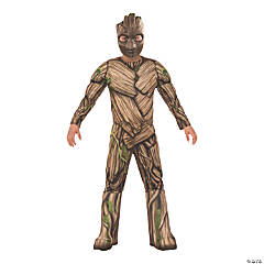 Boy's Deluxe Muscle Chest Groot Costume - Small