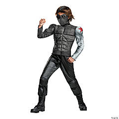Boy's Muscle Captain America Winter Soldier Costume - Extra Small