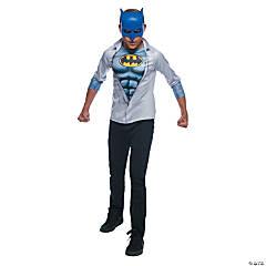 Boy's Photo Real Batman Costume Top - Large