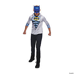 Boy's Photo Real Batman Costume Top - Small