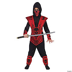 Boy's Red Ninja Halloween Costume - Medium