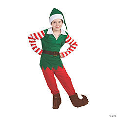 Boy's Santa's Helper Elf Costume - Large