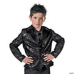 Boy's Black Disco Jacket Costume