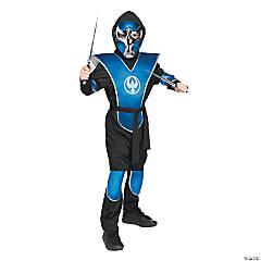 Boy's Blue Chrome Ninja Halloween Costume - Medium