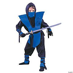 Boy's Blue Ninja Costume - Large